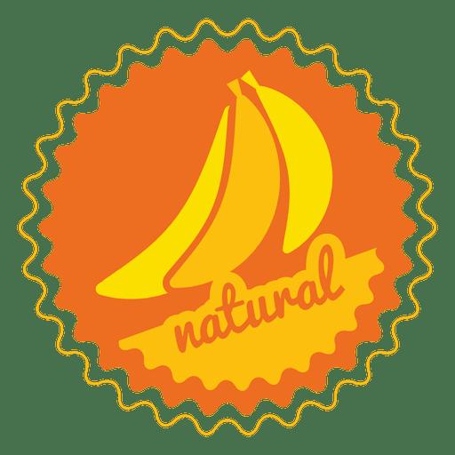 Banana natural circle badge