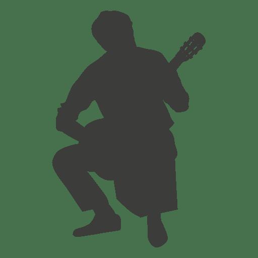 Banjo musician silhouette