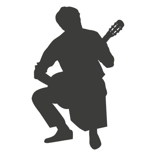 Silueta del músico banjo Transparent PNG