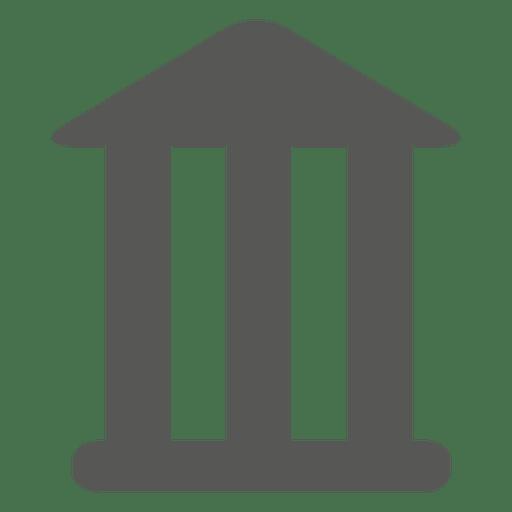 Icono de edificio de banco