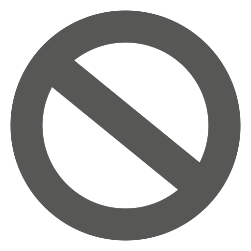 Banned circle icon