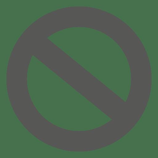 Icono de c?rculo prohibido