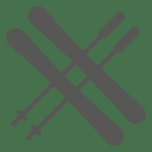 Barbecue grill sticks icon
