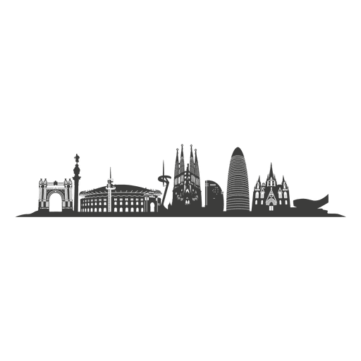 Silhueta do horizonte de Barcelona Transparent PNG