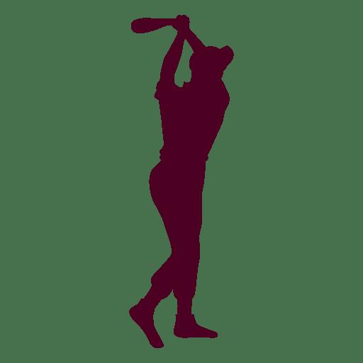 Baseball batting Silhouette