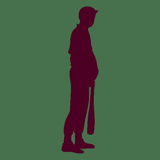Baseball batting Silhouette Vector