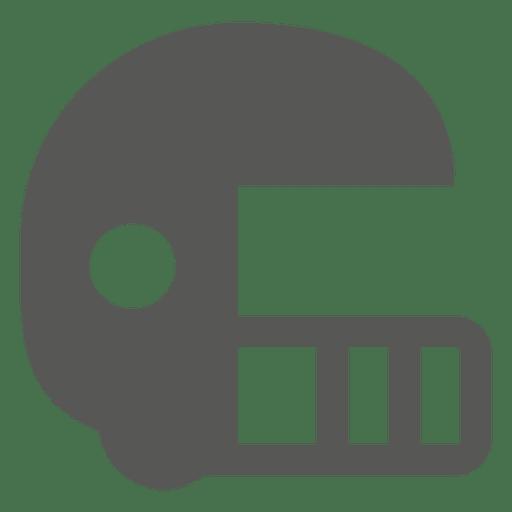 Ícone plana de capacete de beisebol Transparent PNG