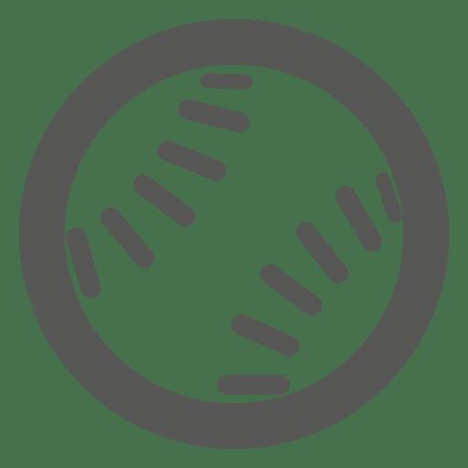 Icono de pelota de beisbol Transparent PNG