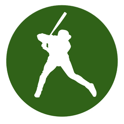 Baseball player circle icon
