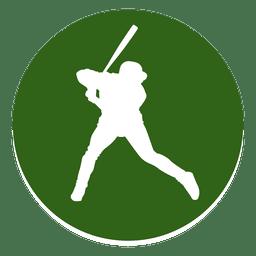 Icono de círculo de jugador de béisbol