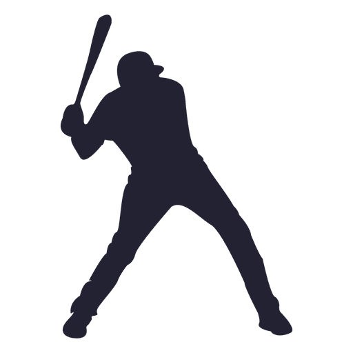 baseball player silhouette - transparent png & svg vector