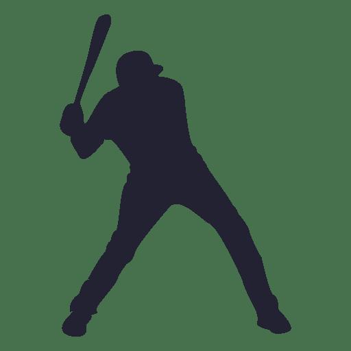 Silueta de jugador de beisbol Transparent PNG