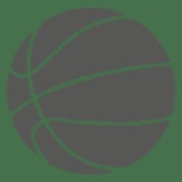 Ícone de silhueta de basquete