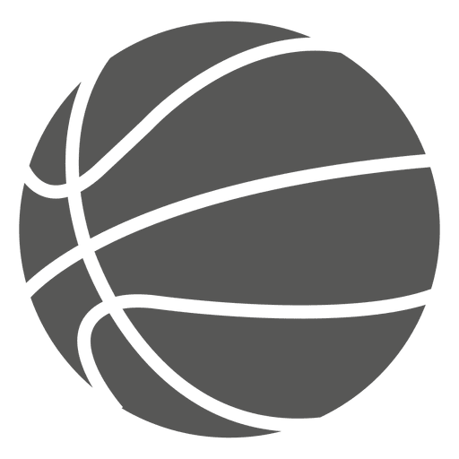 Basketball silhouette icon Transparent PNG