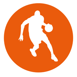 Basketball player circle icon