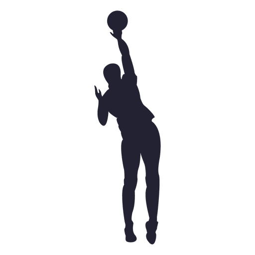 basketball player silhouette png