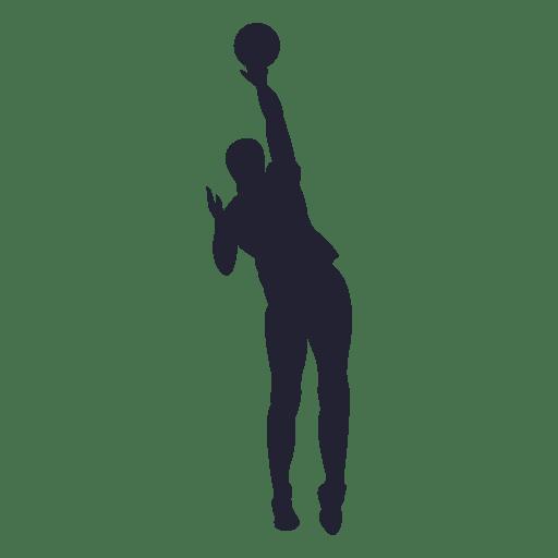 Silueta de jugador de baloncesto