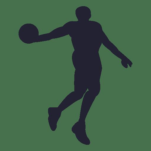 Basketball player silhouette 1