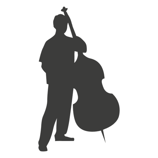 Bass musician silhouette - Transparent PNG & SVG vector