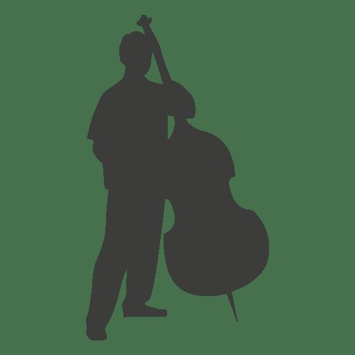Silueta de músico bajo Transparent PNG