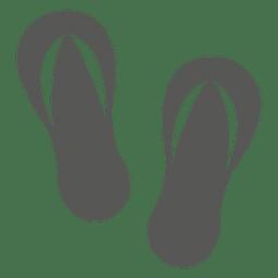 Beach sandals icon