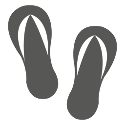 Icono de sandalias de playa
