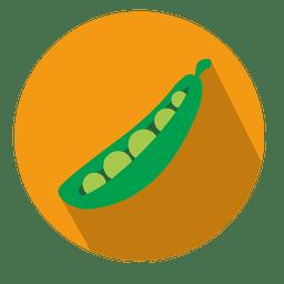 Icono de círculo de frijol