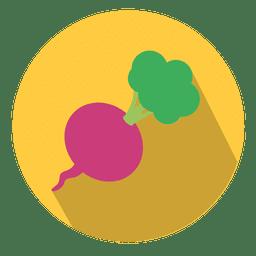 Icono de círculo de remolacha