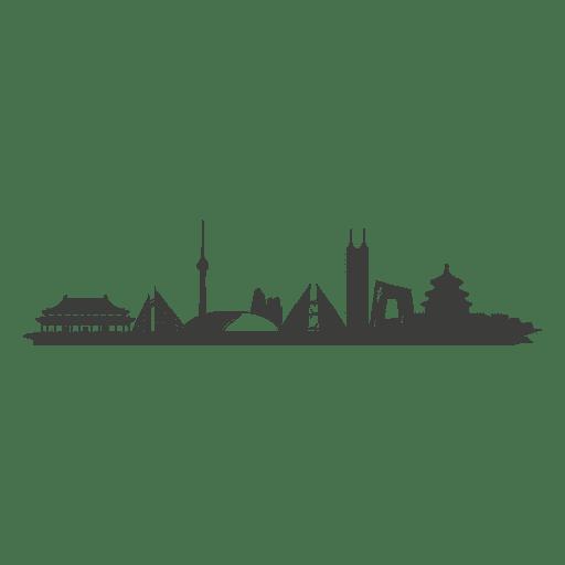 Beijing skyline silhouette Transparent PNG