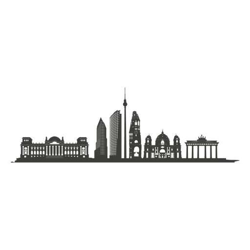 Berlin skyline silhouette Transparent PNG