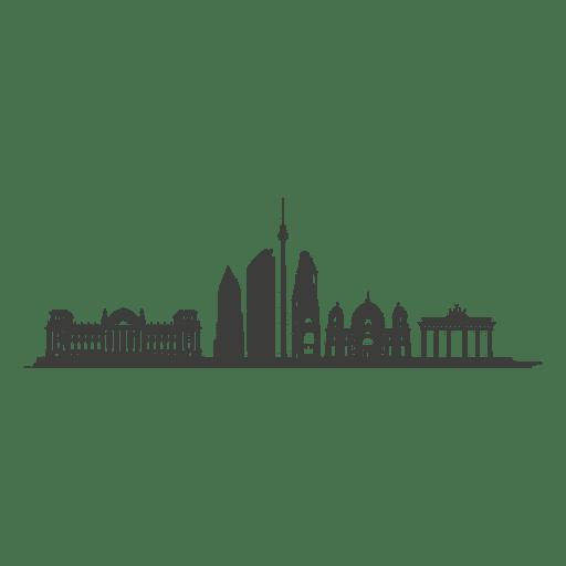 Silhueta do horizonte de Berlim Transparent PNG