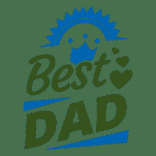 Mejor insignia de papá 1 Transparent PNG