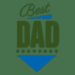 Mejor etiqueta de papá