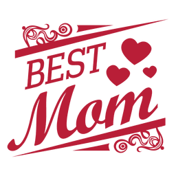 Best mom decorative label