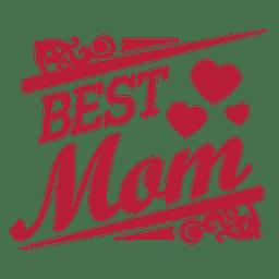 Beste Mutter dekorative Label