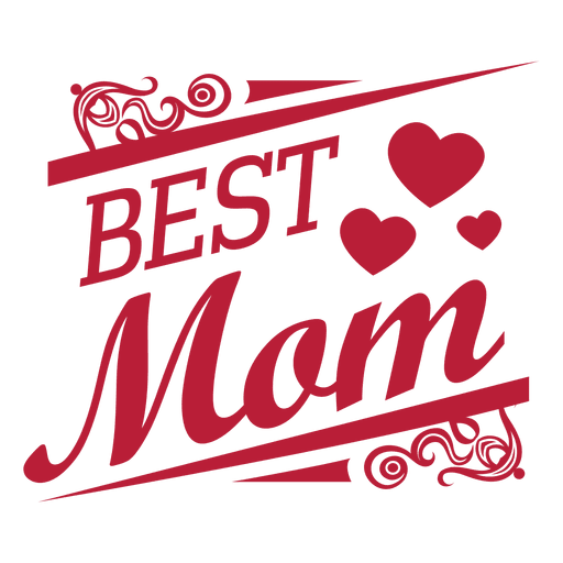 Best mom decorative label Transparent PNG
