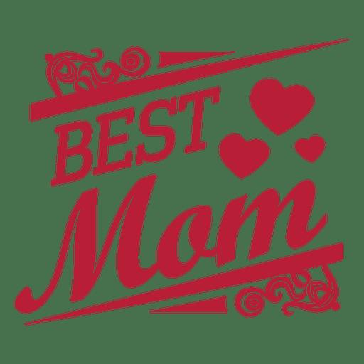 Mejor etiqueta decorativa mamá Transparent PNG