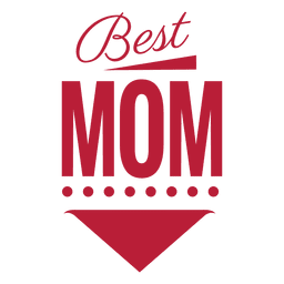 Best mom vintage label