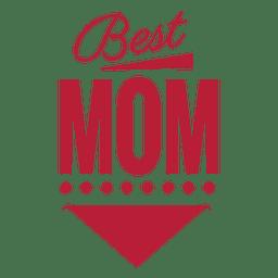 Mejor etiqueta vintage mamá