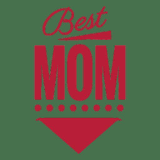 Best mom vintage label Transparent PNG