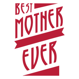 Melhor mãe nunca badge