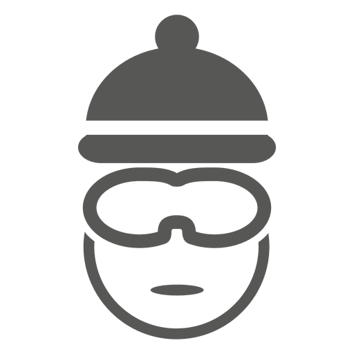 Ícone de headshot de piloto de bicicleta Transparent PNG