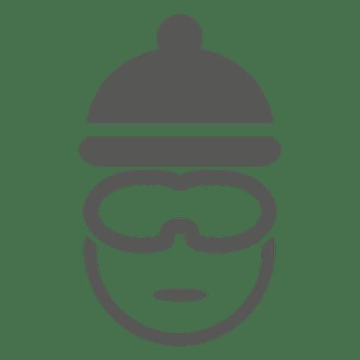 Bike rider headshot icon Transparent PNG