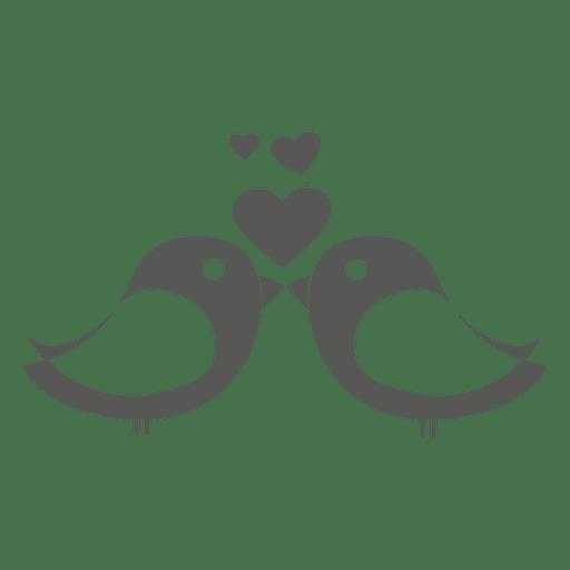 Aves con estructuras de amor. Transparent PNG