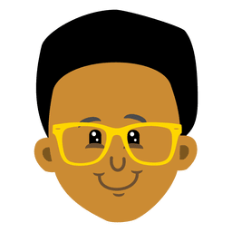 Black boy cartoon avatar head