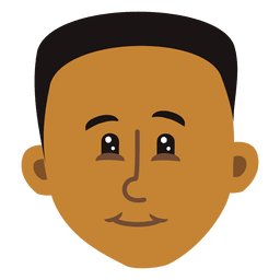 Schwarzer Junge Cartoon Kopf