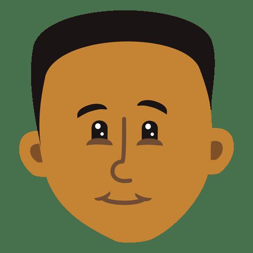 Cabeza de dibujos animados de chico negro