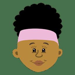 Black female head cartoon 2