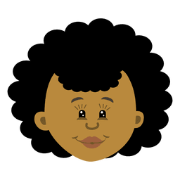 Black female head cartoon 3