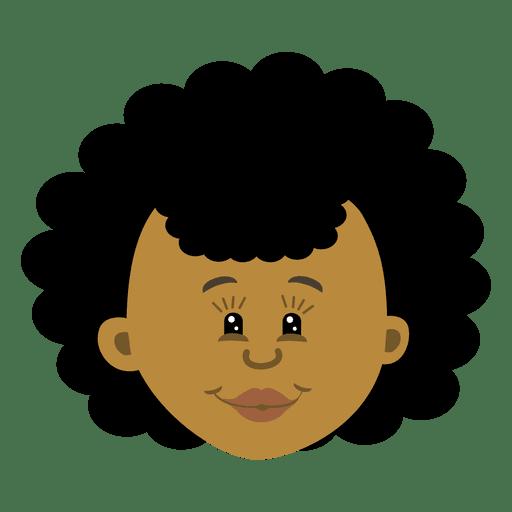 Dibujos animados de cabeza negra hembra 3 Transparent PNG